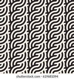 Seamless geometric pattern. Abstract stripy geometric background. Stylish vector rounded lines print