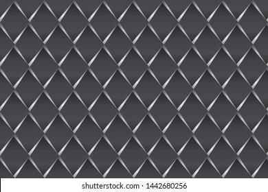 seamless geometric pattern. black and white rectangular. background, vector, illustration