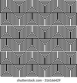 seamless geometric pattern of black and white zigzag