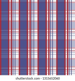Seamless geometric  pattern with blue and red colour.
