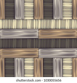 Seamless geometric pattern. Brown floor with wooden texture. Scribble texture. Textile rapport.