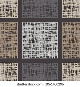Seamless geometric pattern. Brown floor with wooden texture. Asian Mat. Textile rapport.