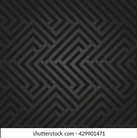 Seamless geometric pattern by stripes. Modern vector background with repeating lines. Dark geometric pattern