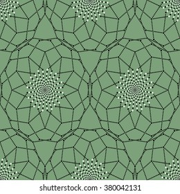 Seamless geometric pattern with dots and hexagons