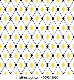 Seamless geometric pattern. Endless cross lines, diamond rhombus. Vector background for wallpaper, fashion print design
