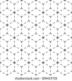 Seamless geometric pattern. Endless lines pattern. Architectural pattern.