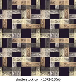 Seamless geometric pattern. Floor with wooden texture. Scribble texture. Textile rapport.
