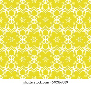 Seamless geometric pattern with floral style ornament on color background. For greeting cards, invitations, cover book, fabric, scrapbooks.