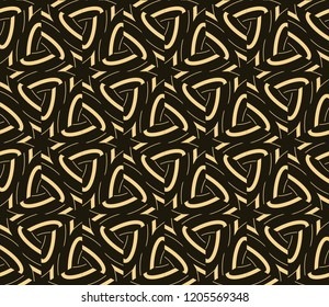 Seamless geometric pattern. With gold color line ornament.