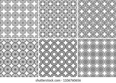 Seamless Geometric Pattern Gray