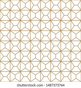Seamless geometric pattern, great design for print, lasercutting, engraving,wrapping.Pattern background vector.Gold and white.Average thickness lines.