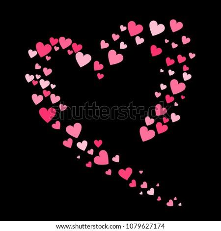 Seamless Geometric Pattern Hearts Fancy Heart Stock Vector Royalty
