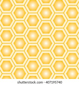 seamless geometric pattern with honeycombs Vector illustration