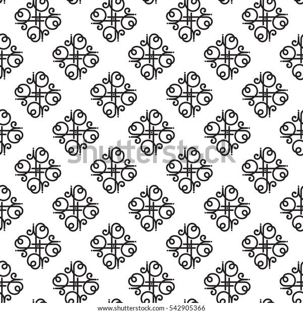 Seamless geometric pattern made in line style vector.East ornament.
