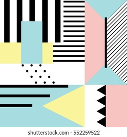 Seamless geometric pattern in modern abstract style