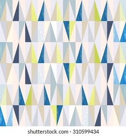 Seamless geometric pattern on paper texture. triangles vector background pattern seamless. hipster background.