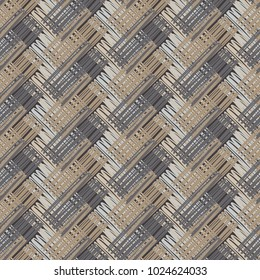 Seamless geometric pattern. Parquet and linoleum texture. Stripes texture. Textile rapport.