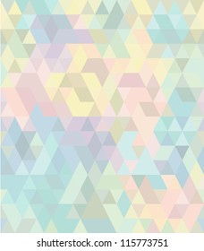 Seamless geometric pattern in pastel tints #2