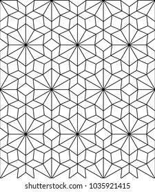 Seamless geometric pattern with polygons. Vector art.