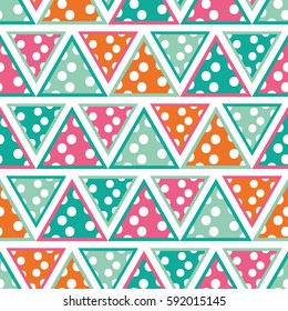 Seamless geometric pattern. Print. Repeating background. Cloth design, wallpaper.