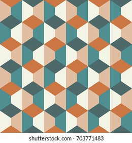 Seamless geometric pattern with rhombuses and trapezoids