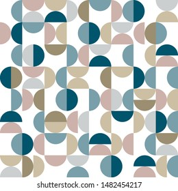 Seamless geometric pattern in Scandinavian style. Template for poster, presentation, web banner. Vector illustration