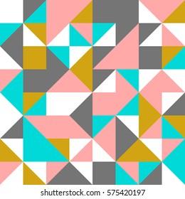 Seamless geometric pattern with geometric shapes
