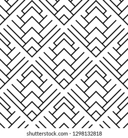 Seamless geometric pattern with squares. Vector art.