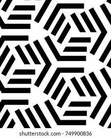 Seamless geometric pattern with stripes. Vector art.