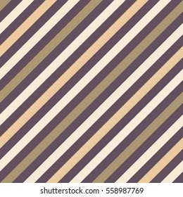 Seamless geometric pattern. Stripy texture for neck tie. Diagonal contrast strips on background. Brown, olive, beige soft colors. Vector
