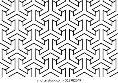 Seamless geometric pattern. Stylish background / texture. Blackwork - dotwork tattoo design.