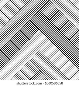 Seamless geometric pattern. Texture of black and white stripes. Textile rapport.
