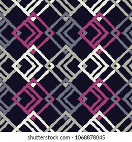 Seamless geometric pattern. The texture of rhombus. Scribble texture. Textile rapport.