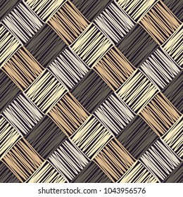 Seamless geometric pattern. Texture of squares. Scribble texture. Textile rapport.