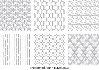 Seamless Geometric Pattern Two Gray