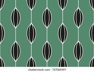 Seamless geometric pattern with wavy lines. Vector art.