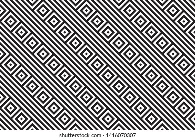 seamless geometric pattern. white and black stripes rectangular shape alternately. background, vector, illustration