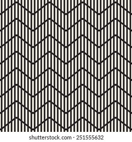 Seamless geometric pattern. Zigzag striped grid. Vector graphic texture