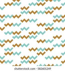 Seamless geometric pattern with zigzags. Can be used in textiles, for book design, website background.