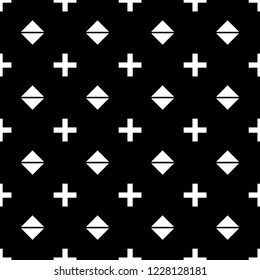 seamless geometric, plus and square shape. abstract endless pattern. illustration background