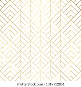 Seamless geometric squares pattern in gold and white.