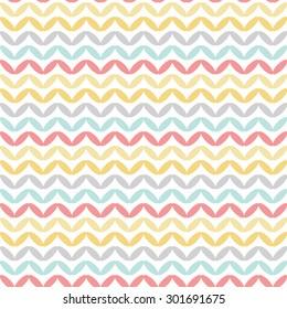 Seamless geometric summer pattern