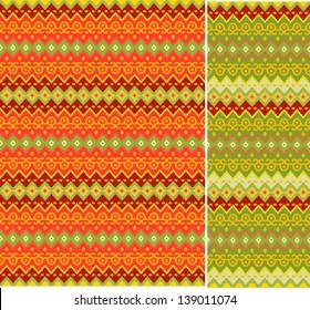Seamless geometric summer patterns