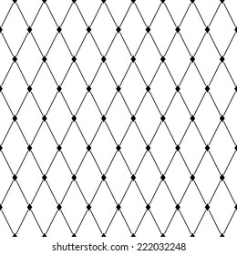 Seamless geometric vector pattern with argyle elements. Black and white simple graphic background for web or print. Abstract minimalistic design.