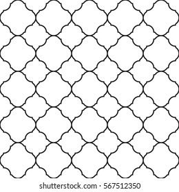 Seamless geometric vector pattern in oriental style