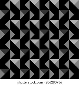 Seamless geometric vector pattern with triangles