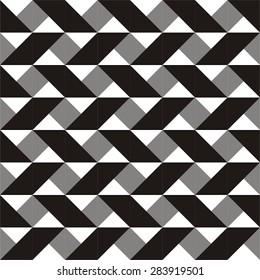 Seamless geometric vector zig zag pattern