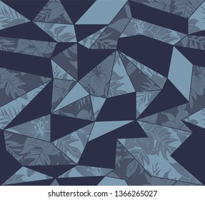 Seamless geometrical flower pattern