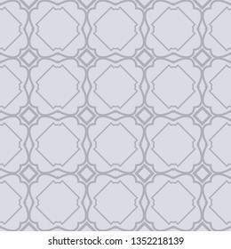 Seamless Geometrical Linear Texture. Original Geometrical Puzzle. Backdrop. Vector Illustration. For Design, Wallpaper, Fashion, Print. gREY COLOR.