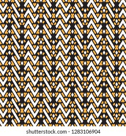 Seamless geometrical pattern. Regularly repeating ornament from simple geometrical figures. For a cover of cards, wall-paper, fabrics. Vector illustration.